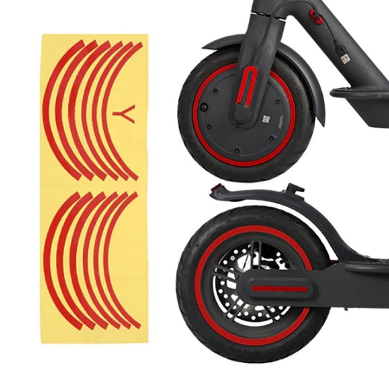 Σετ στρογγυλά αυτοκόλλητα για ζάντες Xiaomi e-scooter